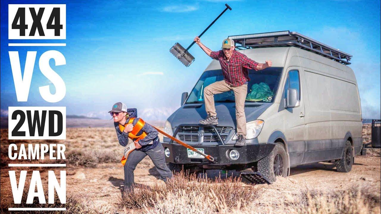 4x4 Camper Van vs 2WD Camper Van for Off Road Van Life   Adventure in a  Backpack