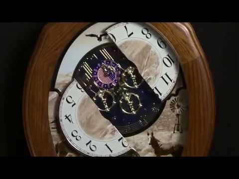 Rhythm Joyful Prairie 4MH418WU06 Small World Musical Motion Wall Clock