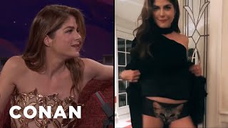 Selma Blair's Flirty Boomerang  - CONAN on TBS