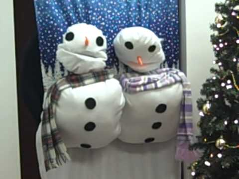 Snowmen door decorations - YouTube