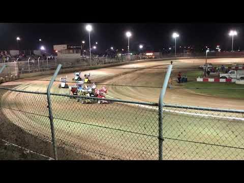 Delta Speedway Turkey Bowl 10/26/18 Jr Sprint Heat 1