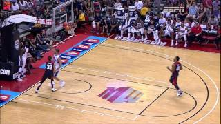 Paul George Gruesome Leg Injury in Team USA Basketball Showcase (HD)(Absolutely heartbreaking for an NBA fan such as myself to see such a great player undergo such an injury. I wish him and his family the best of wishes and luck., 2014-08-02T05:03:01.000Z)