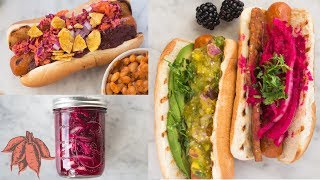 5 Colorful Hot Dog Toppings | Vegan Cookout with Smart Dogs
