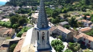 Parrot Bebop 2 Drone, Cadenet, Village provençal, South of France