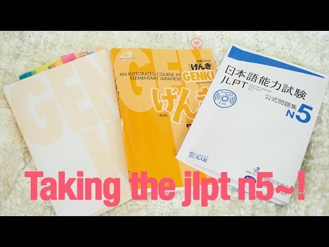 Taking the JLPT N5 test! + What I used to study
