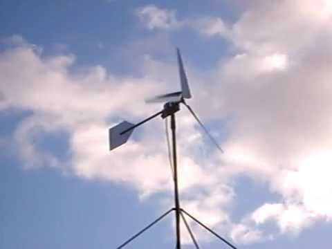WindyNation's 80-inch WindGrabbers with 500 Watt PMA in action! -- Wind Turbine