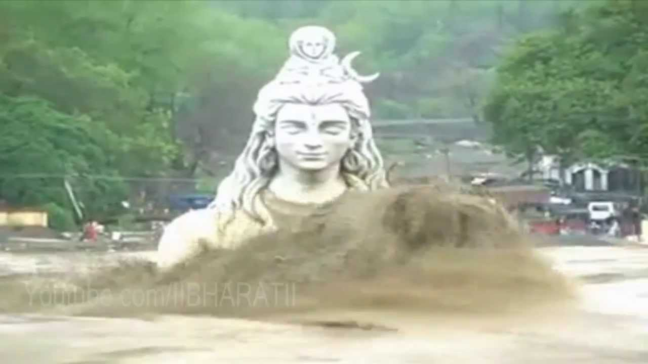 Heavy Flood in Uttarakhand - Statue of Lord Shiva in ...