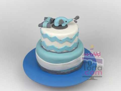 Baby Shower Elefante Niño ~ Pastel de baby shower con elefante decoración fiestas