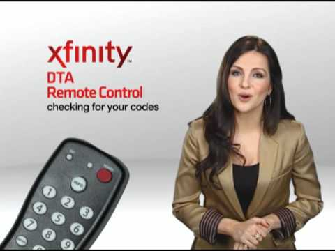 COMCAST XFINITY CABLE DTA UNIVERSAL REMOTE CONTROL DIGITAL TRANSPORT ADAPTER