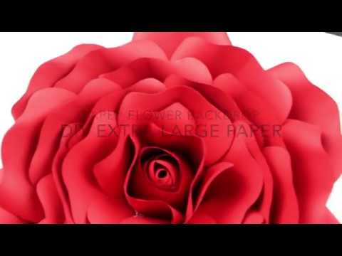 Extra Large Rose Template DIY Paper Flower Backdrop for Wedding