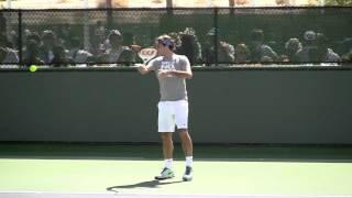Roger Federer Practicing BNP Paribas 2012 ( Indian Wells ) in HD