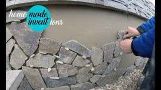 How to Install Natural Stone - DIY stone facing
