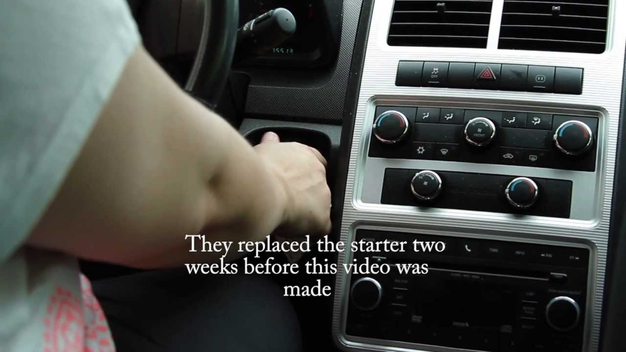 2010 Dodge Journey Starter problem  YouTube