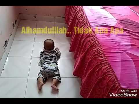 Detik detik bayi jatuh dari kamar tidur. Berlangsung Dramatis
