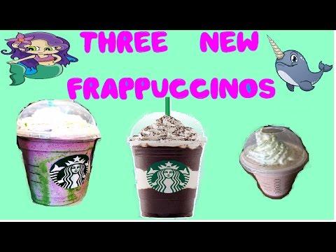 3 New Secret Menu Starbucks Frappuccinos Mermaid Narwhal Mocha Mint Limited Edition Taste Tests
