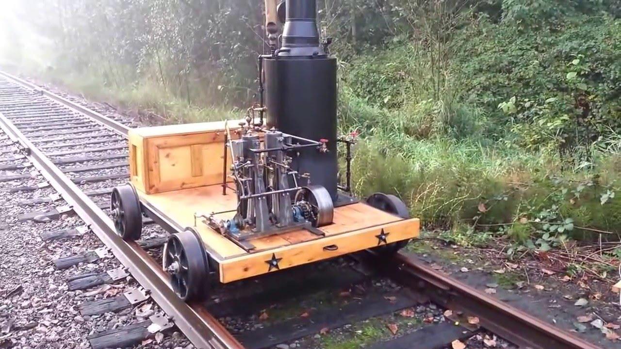 Locomotives For Sale >> Steam Speeder Locomotive Railroad Engine Boiler Car Pump Whistle - YouTube