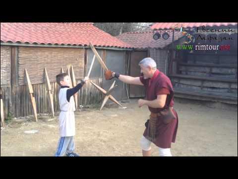 Урок гладиаторского боя в Риме www.rimtour.net