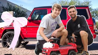 SURPRISING LITTLE BROTHER WITH HIS DREAM CAR!! (MERCEDES G-WAGON)