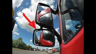Маленькое зеркало Вольво ФШ ФМ ВНЛ,Volvo FH FM VNL 12 13.Замена зеркала,как разобрать широкоугольное