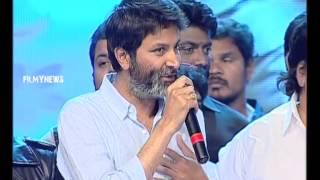 Trivikram Speech @ S/o Satyamurthy Audio Launch || Allu Arjun, Trivikram, Samantha