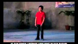 Video JC TAN SINGS LISTEN FLASHLIGHT SAN RAFAEL THANKSGIVING BALUT TONDO MANILA SEPT 29 2015 download MP3, 3GP, MP4, WEBM, AVI, FLV November 2018