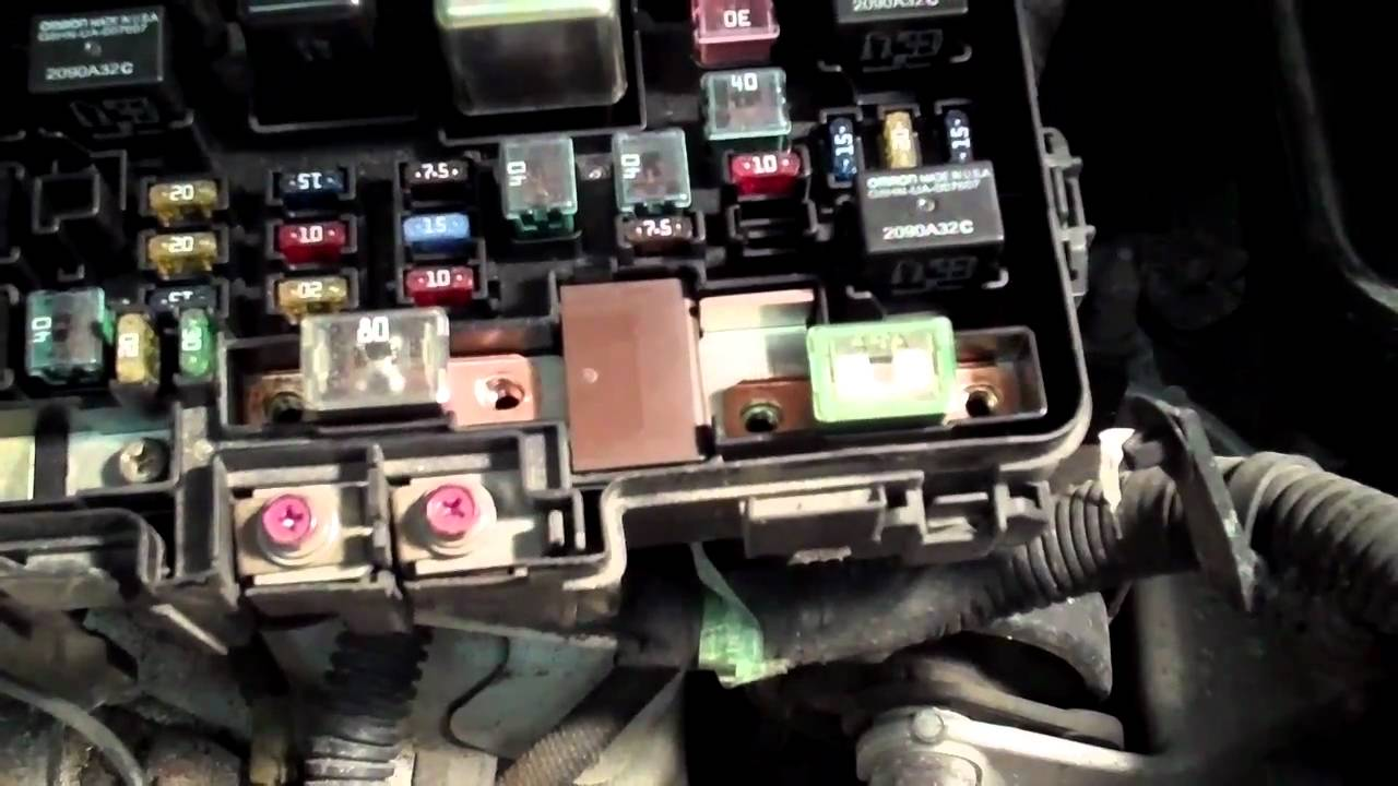 Accord Fuse Box How To Fix The P1298 Electric Load Detector On Your Honda