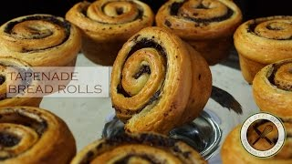 Tapenade Bread Rolls / No Mixer – Bruno Albouze – THE REAL DEAL