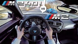 BMW M240i vs BMW M2 AutoBahn TOP SPEED POV Test Drive by AutoTopNL