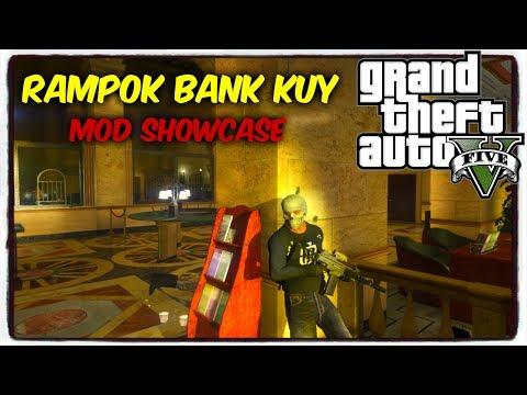 RAMPOK BANK KETAUAN POLISI || GTA 5 HEIST MOD BAHASA INDONESIA