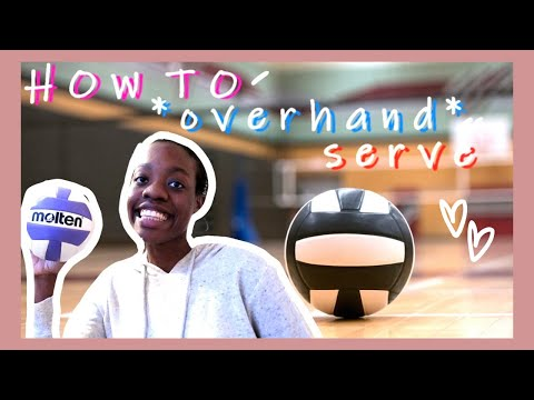 HOW TO OVERHAND SERVE FOR BEGINNERS! (easy Volleyball Tips)