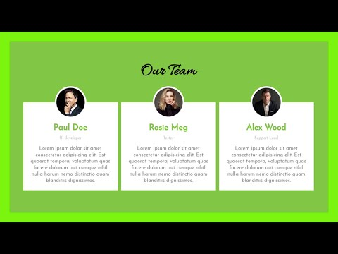 How To Create Our Team Section Using HTML And CSS