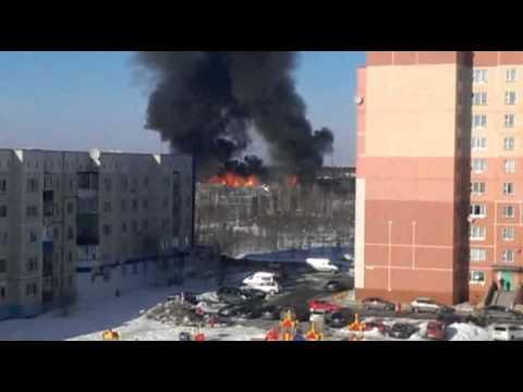 Пожар в Лянторе