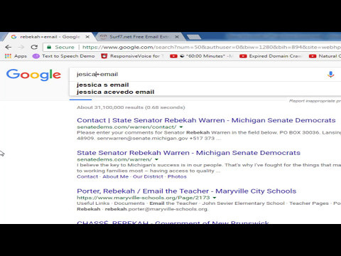 How to find someones email address by google search