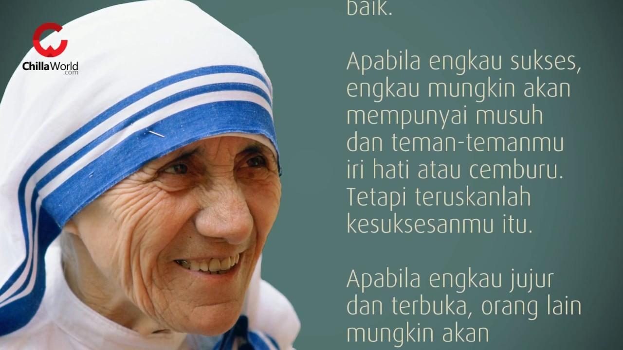 19 Kutipan Bunda Teresa Yang Sangat Menginspirasi Voxjitu Com