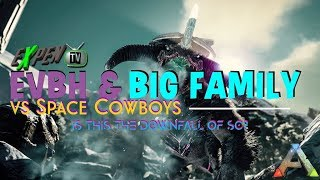 ARK SURVIVAL OFFICIAL PVP  PARTY FOB ON SPACE COWBOYS SERVER 482 DAY 3 (RATED MA+)(PS4PRO)