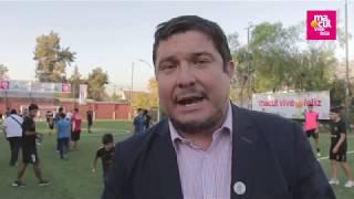 Alcalde Inaugura nuevas canchas en Espacio Macul