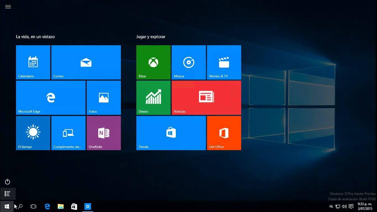 activar pantalla completa de inicio en windows 10 youtube