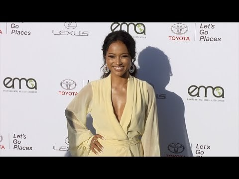 Karrueche Tran EMA's 27th Annual Awards Gala Green Carpet thumbnail
