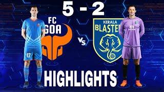 FC Goa vs Kerala Blasters 5-2 Full Match Highlights ISL 2017 All Goals 