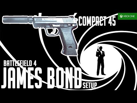 "Battlefield 4 - Compact 45 Gameplay (The James Bond ""007"" Setup) - Golmud Railway - XBOX ONE"