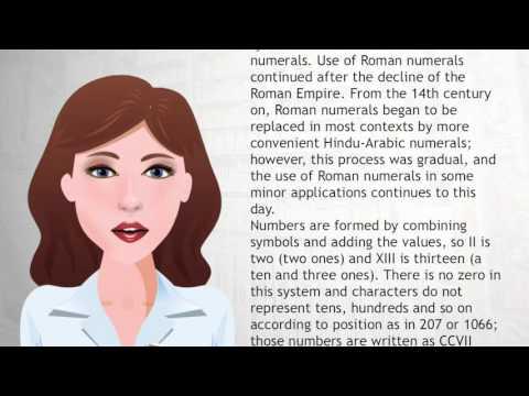 Roman numerals - Wiki Videos