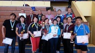 Награждение участников чемпионата РК по настольному теннису среди ветеранов