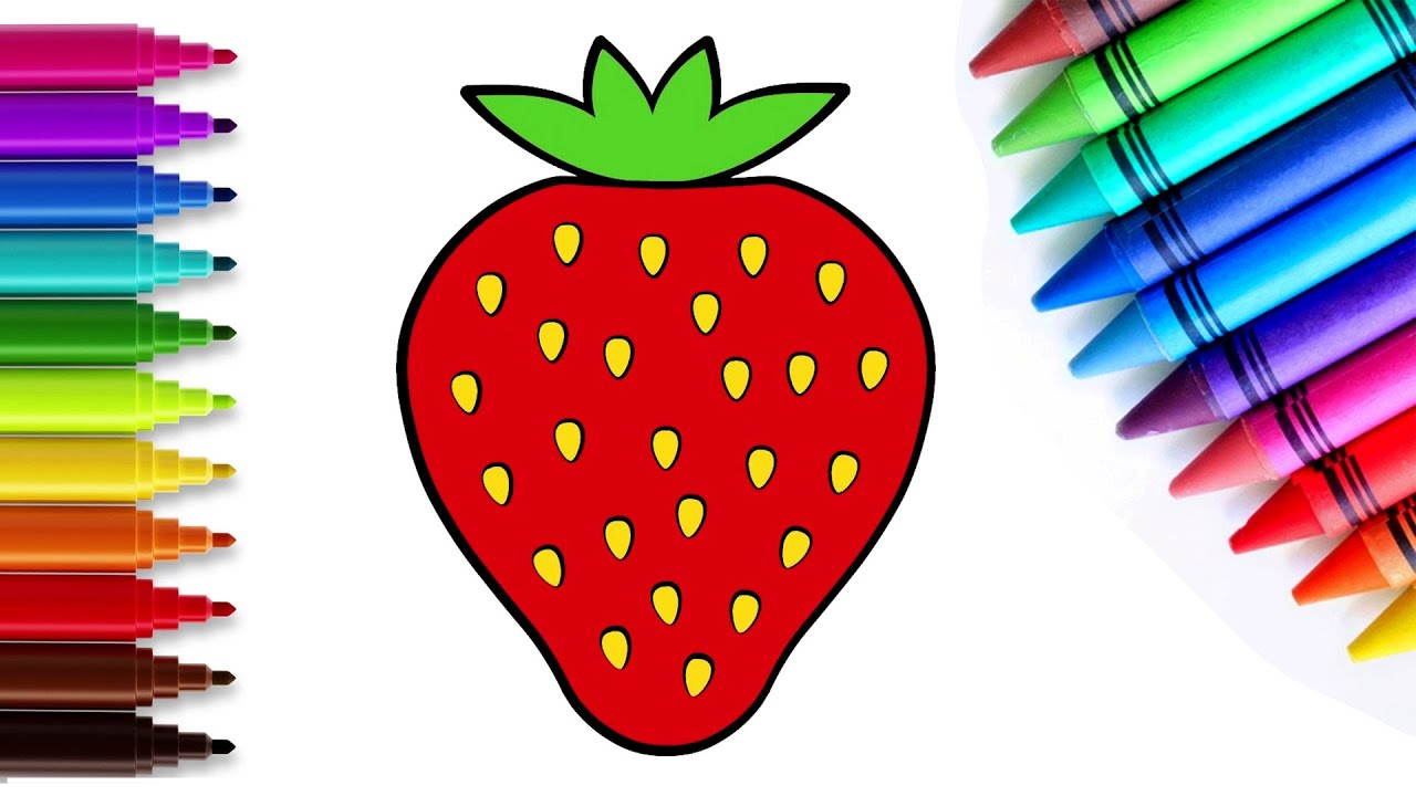 Cómo dibujar una fresa - Dibujos para niños | Chiki-Arte Aprende a Dibujar