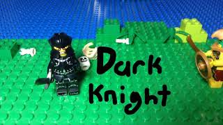 Lego Aztec  Warrior Vs  Dark Knight