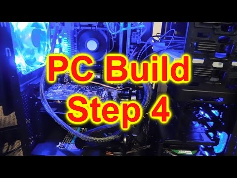 First Time PC (AMD) Build Step 4 - Installing DVD Drive, Power Supply & OS (Operating System)
