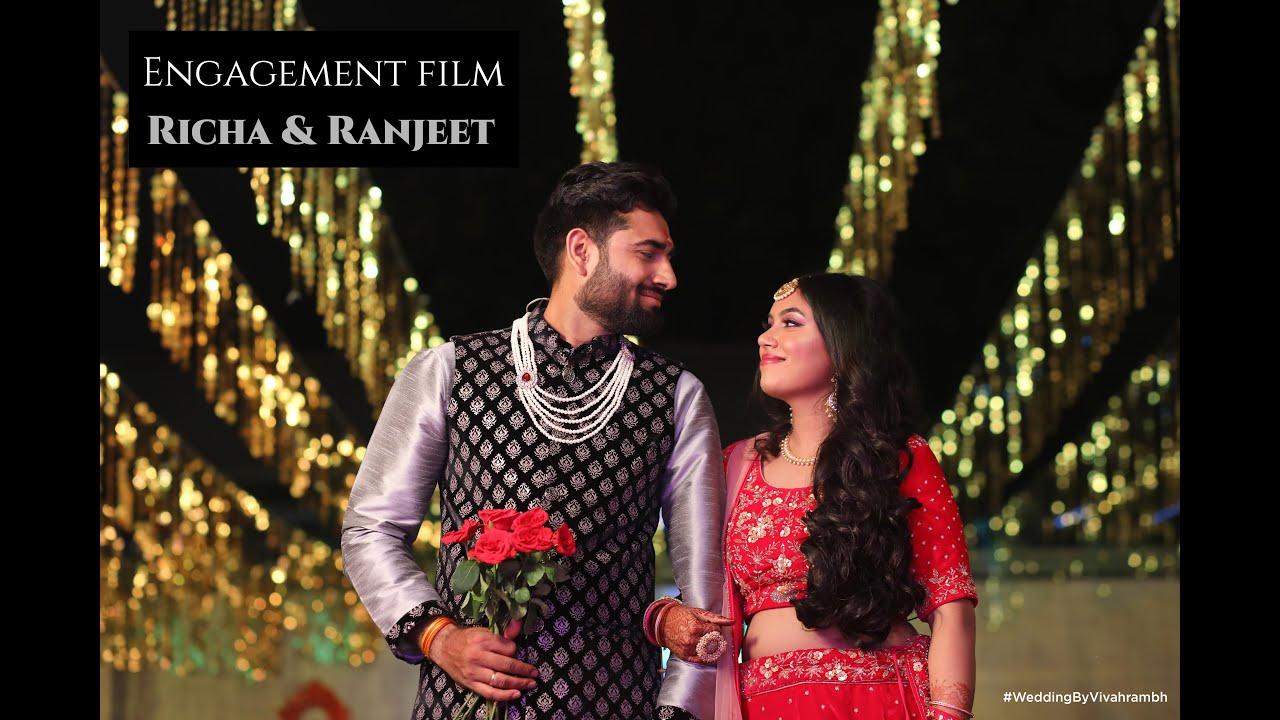 Engagement Highlight Of Richa And Ranjeet   Wedding Film   WeddingsByVivahrambh   Rahul Gehlot Films
