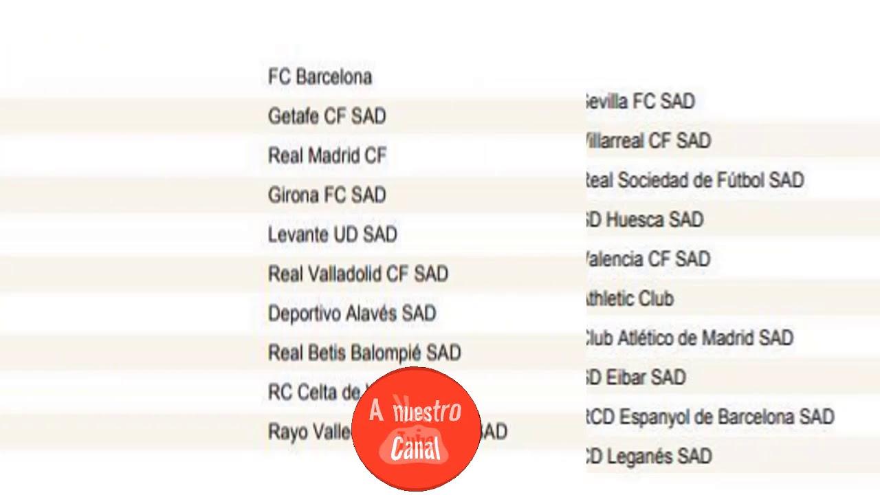 Calendario Madrid 2019.Calendario Completo De Laliga Santander 2018 2019