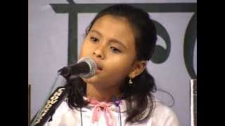 11yrs old Antara singing rangi sari gulabi