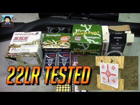 Ammo Tests - 22LR Comparison