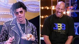 Lonzo Ball Raps to Migos' 'Bad & Boujee' in Lip Sync Battle with Dad LaVar
